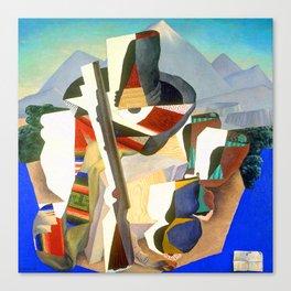 Diego Rivera Zapata Style Landscape Canvas Print