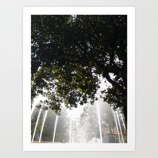 Municipal Watering Can Art Print