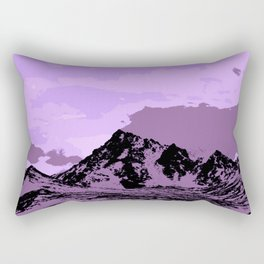 Chugach Mountains - EggPlant Pop Art Rectangular Pillow