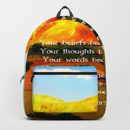 Gandhi Wisdom Saying Quotation About Destiny Backpack