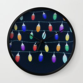 Fairylights Wall Clock