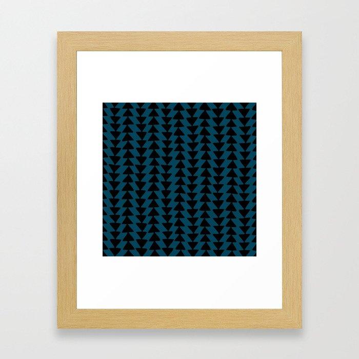 Blue Arrows Framed Art Print