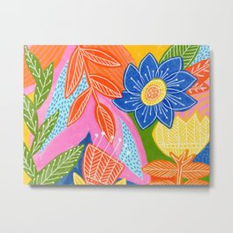 Energetic Flowers Metal Print