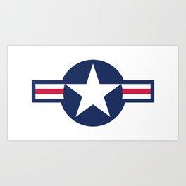 US Air force insignia HD image Art Print