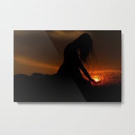 All the World Is Yours Sunset Photograph Metal Print