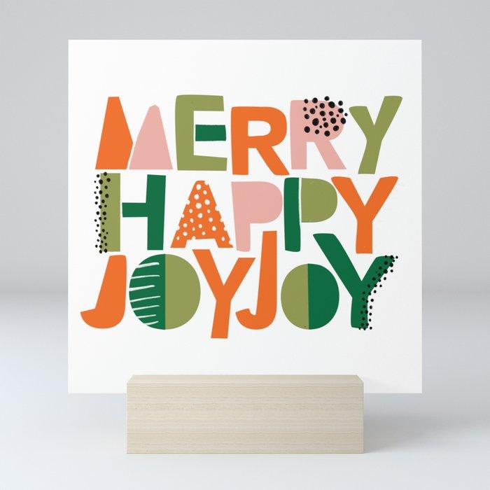 Merry Happy Joy Joy Mini Art Print
