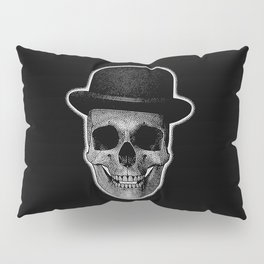 skull with bowler hat Pillow Sham