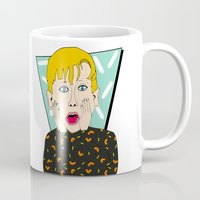 home alone Mugs featuring Home Alone by Elena Éper