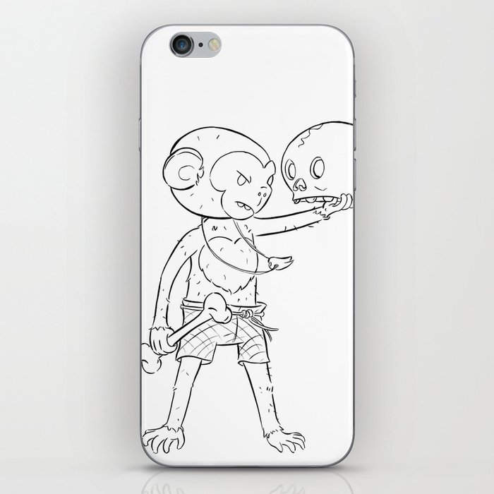 Monkey Pirate - ink iPhone Skin