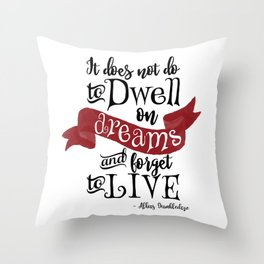 Dwell on Dreams Throw Pillow