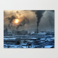 industrial Canvas Prints featuring Industrial by Abramskama