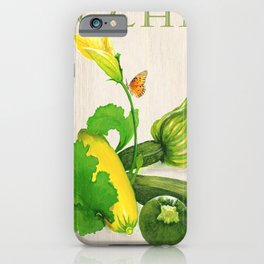 Zucchini and its Blossom iPhone Case