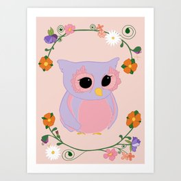 Owl Watch Over You Art Print