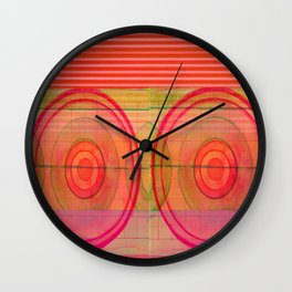 double pink Wall Clock