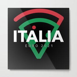 Italy Soccer Jersey 2021 Euro Italia Football Team Metal Print