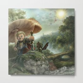 """""""Sword and the Stone"""" Metal Print"""