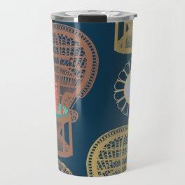 Rattan Cheetah Chairs + Mirrors Travel Mug