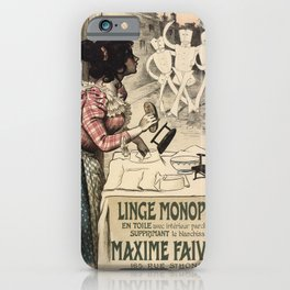 Vintage French linen advertising iPhone Case
