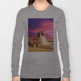 Great Sphinx of Giza, Egypt Long Sleeve T-shirt