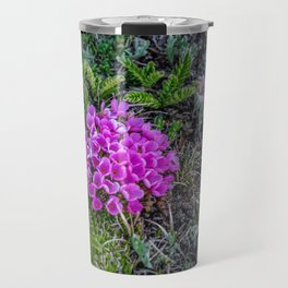 A Dash of Pink at the Top of the World Travel Mug