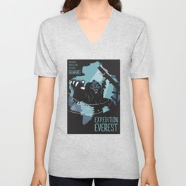 Expedition Everest Attraction Poster Unisex V-Neck