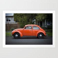 bright orange beetle Art Print