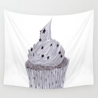 cupcake Wall Tapestries featuring cupcake by Art_By_Sarah