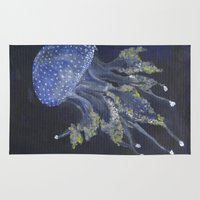 jellyfish Area & Throw Rugs featuring Jellyfish by tejui_art