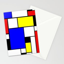 Colored Squares Art Stationery Cards