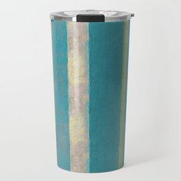 serape simplified in turquoise Travel Mug