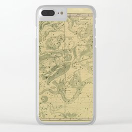 Atlas, Designed to Illustrate the Geography of the Heavens, plate IV (1850) Clear iPhone Case