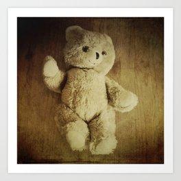 Old Teddy Bear Art Print