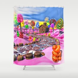 Pink Candyland Shower Curtain