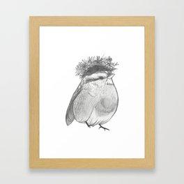 Bird with Bed Head Framed Art Print