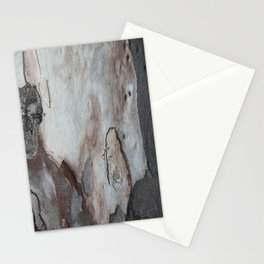 Close Up Abstract Of Blue Grey and Brown Bark Stationery Cards