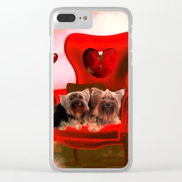 Cute little Yorkshire Terrier Clear iPhone Case