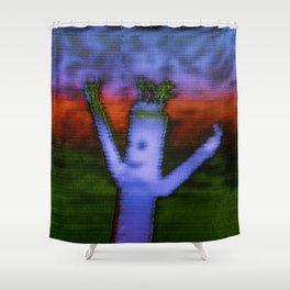 Bend - Glitch Shower Curtain