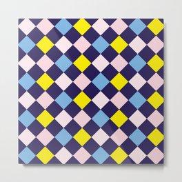 Colorful Mosaic - Purple Blue Pink Yellow Metal Print