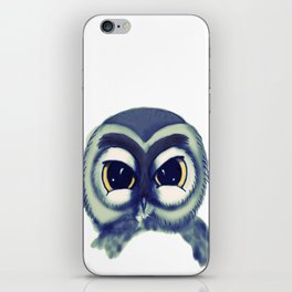 Owl Blue iPhone Skin