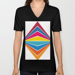 RAINBOW Abstract Art Unisex V-Neck