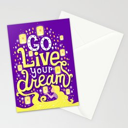 Live your dream Stationery Cards