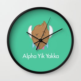 Alpha Yik Yakka Wall Clock