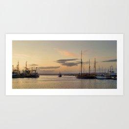 Towards open water Art Print