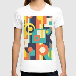 Funky Geometry (Modern Vibrant Color Palette) T-shirt