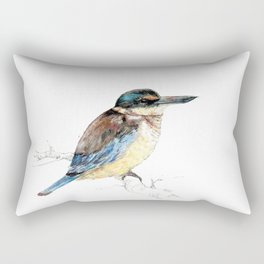 Mr Kōtare, New Zealand native kingfisher bird Rectangular Pillow