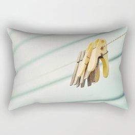 Pegs by a beach hut Rectangular Pillow
