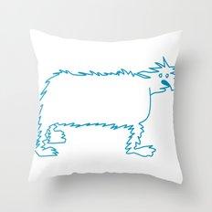 Ice Dog Throw Pillow