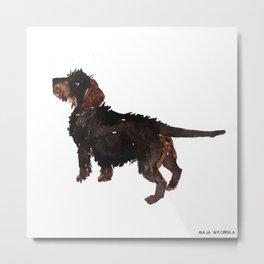 watercolor dog vol3 dachshund Metal Print