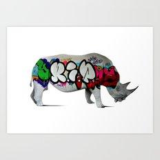 Rhino RIP Art Print