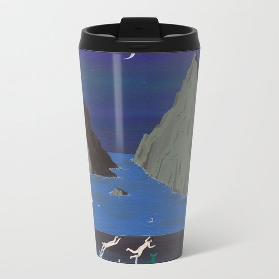 Evil Mermaids Metal Travel Mug